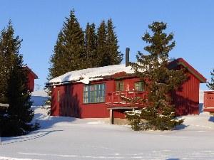Typisches Norwegisches rotes Haus