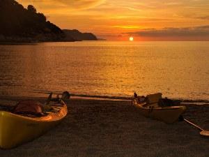 Sonnenuntergang am Strand bei Elba