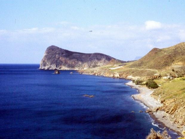 Ausblick auf die Küsten und das blaue Meer