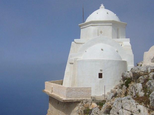 Typische griechische Kirche auf dem Berg