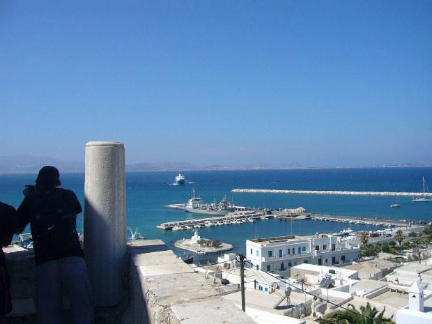 Aussicht auf den Hafen und das Meer